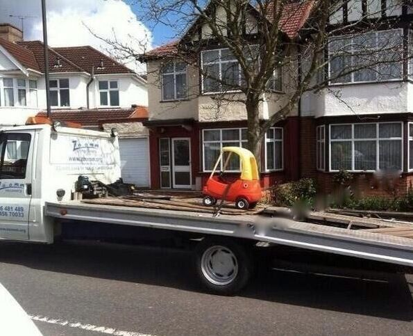Car Broke Down and Had To Have It Towed Tow truck, Funny