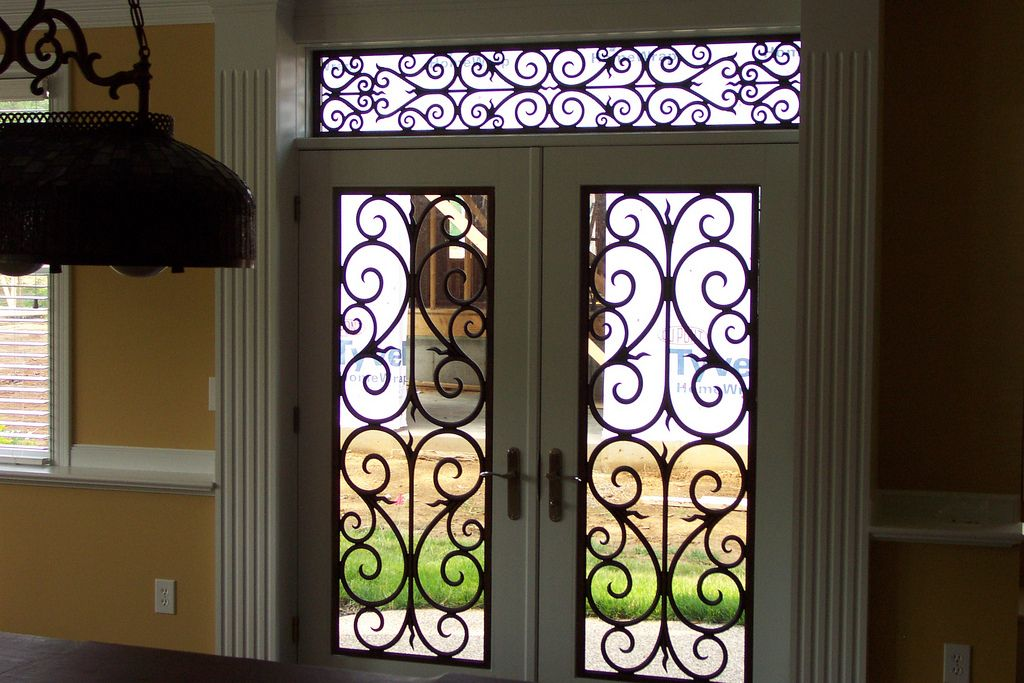Faux Wrought Iron Entry Door Transom Inserts Wrought Iron Doors Wrought Iron Entry Doors Iron Entry Doors