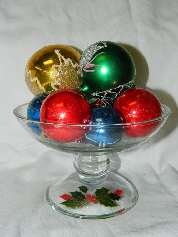 Vintage avon candy dish trinket holly berries
