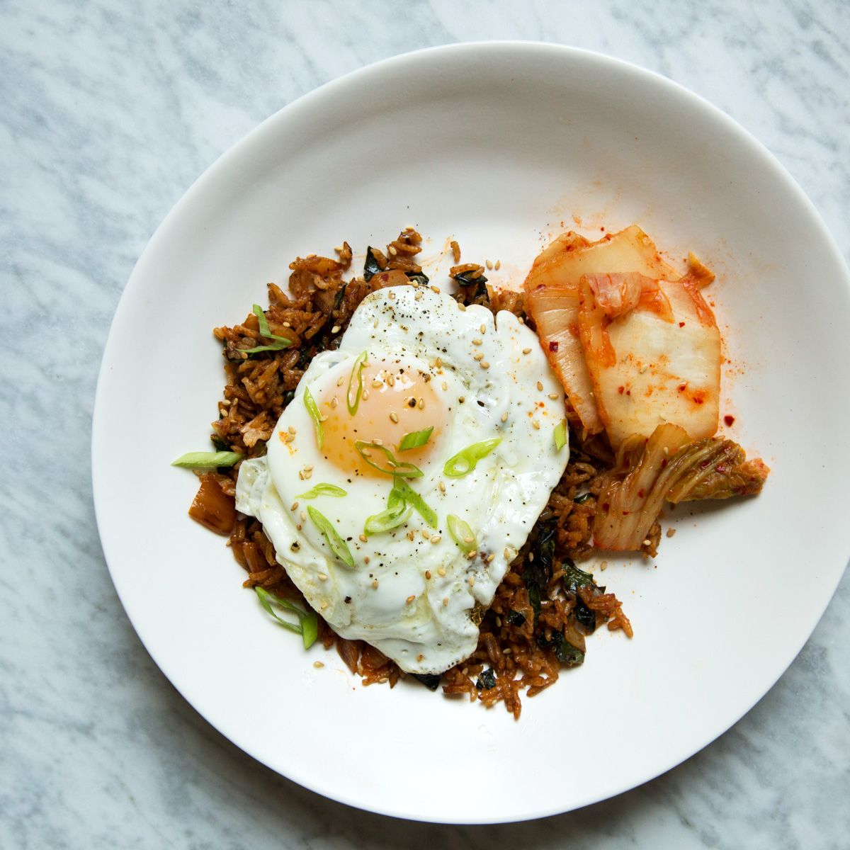 Kimchi and kale fried rice recipe fried rice kimchi and kale kimchi and kale fried rice ccuart Gallery