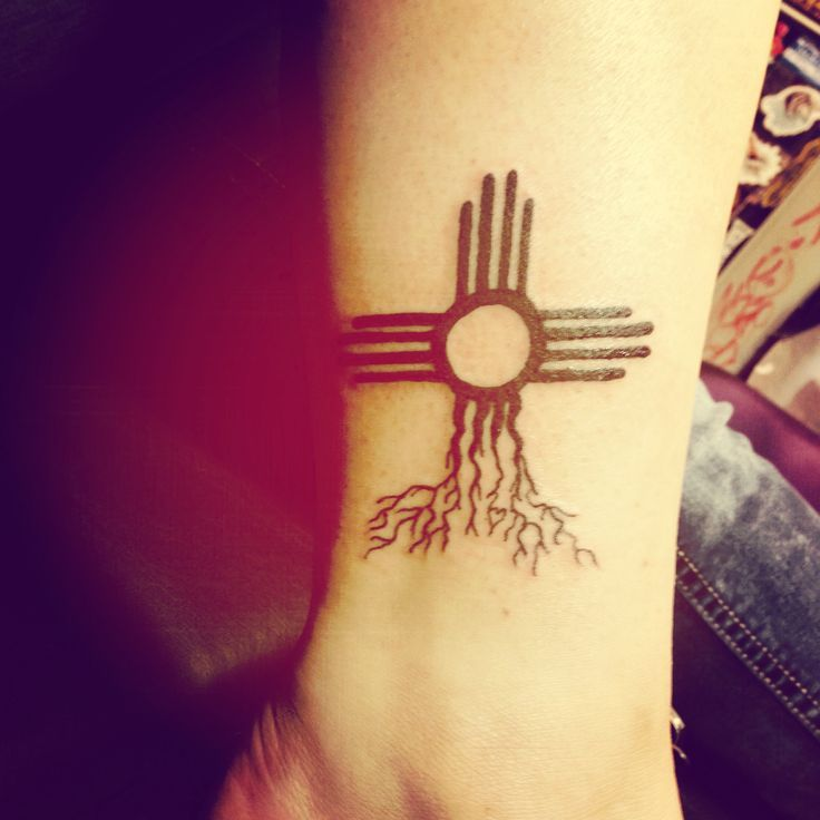 Zia Symbol Tattoo To Represent My NM Roots.