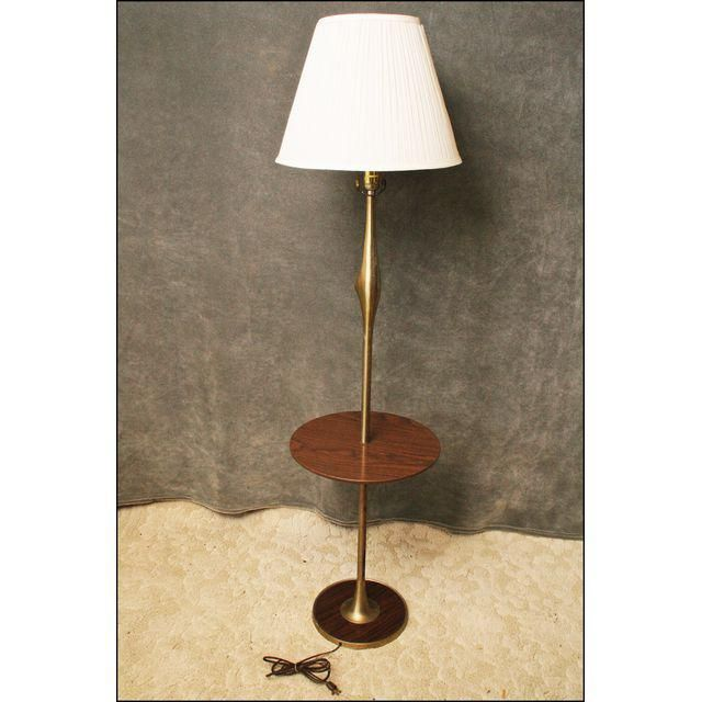 Mid Century Brushed Aluminum Pole Lamp Table | Pole Lamps, Aluminum Pole  And Lamp Table