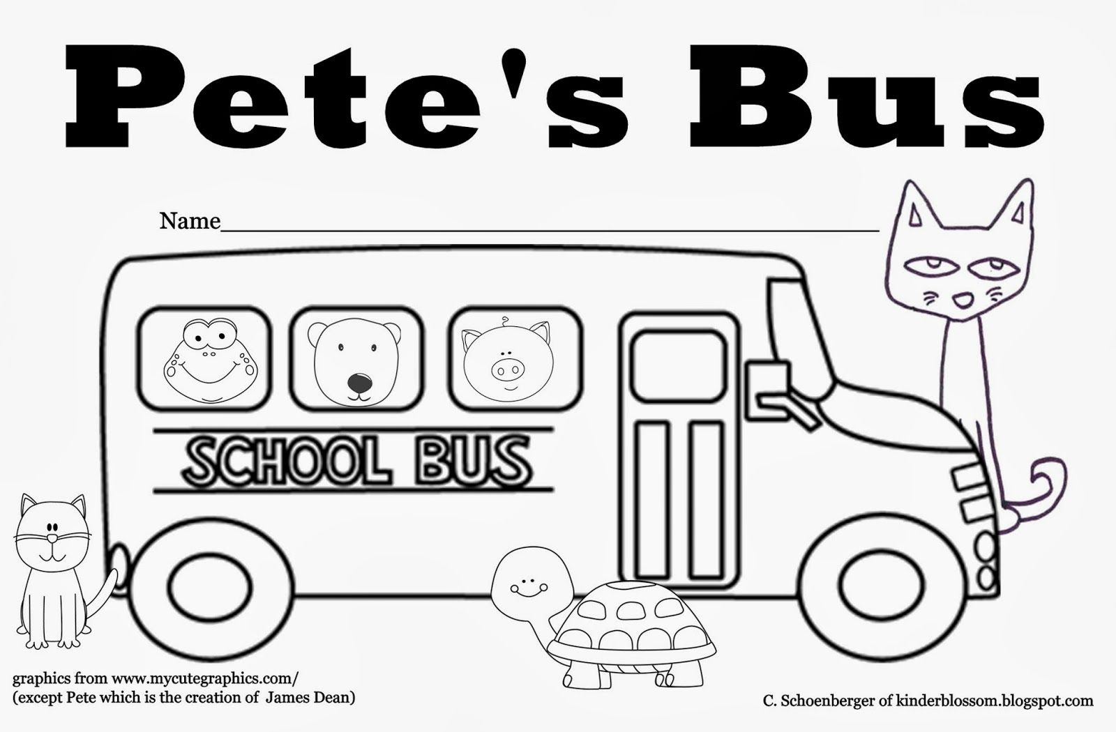 Positional Words With Pete The Cat The Wheels On The Bus