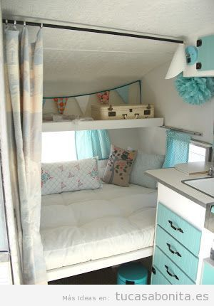 Ideas decorar caravana autocaravana estilo vintage shabby chic 10 casas rodantes - Decoracion interior caravanas ...