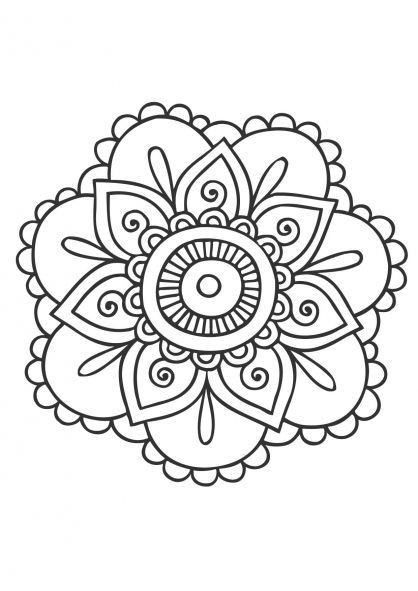 Resultado De Imagen Para Bordados Originales Mandala Malvorlagen Einfaches Mandala Mandala Ausmalen