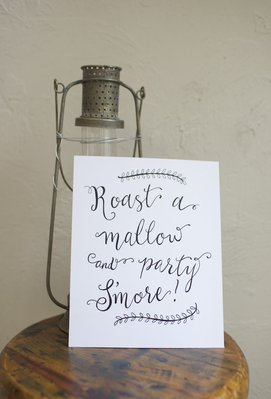 Handpainted Paper Sign Roast A Mallow And Party S More Custom Wedding Signage