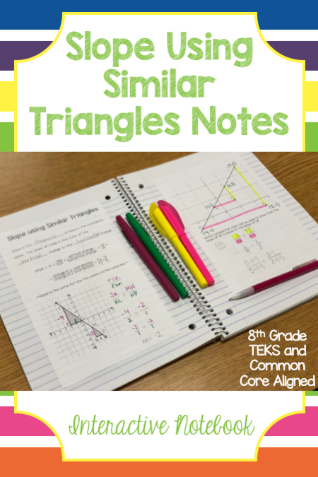 Slope Using Similar Triangles Notes Similar triangles