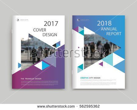 Abstract White Blue Purple Brochure Cover Design Info Banner