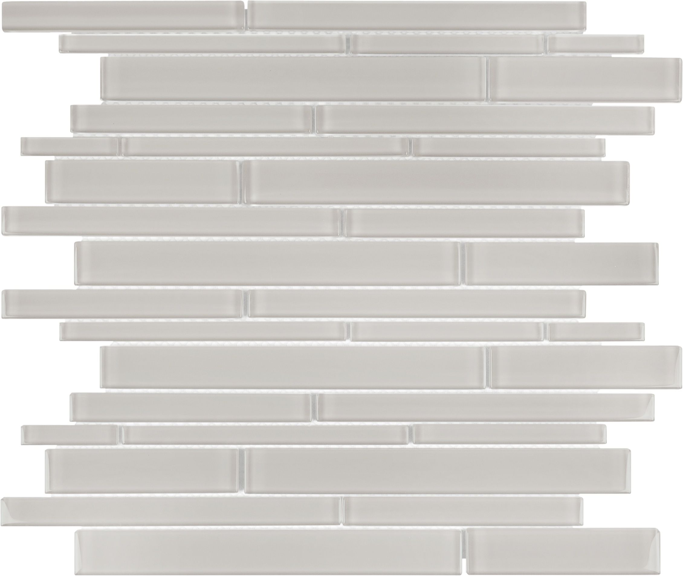 Solid Glass Backsplash Kitchen: 35-058 Mist Solid Glass Random Strip Mosaic