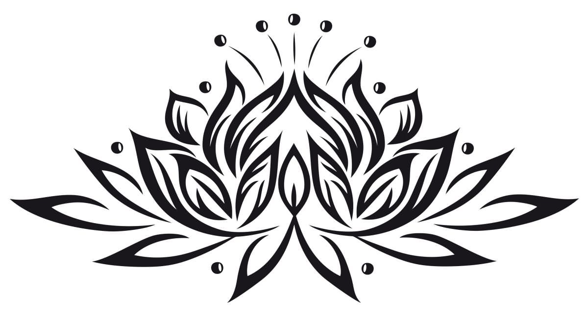 Black tribal lotus flower tattoo stencil my favorites pinterest black tribal lotus flower tattoo stencil mightylinksfo Gallery
