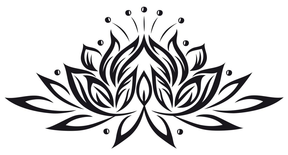 Black Tribal Lotus Flower Tattoo Stencil Lotus Tattoo Design Tribal Lotus Tattoo Lotus Flower Tattoo