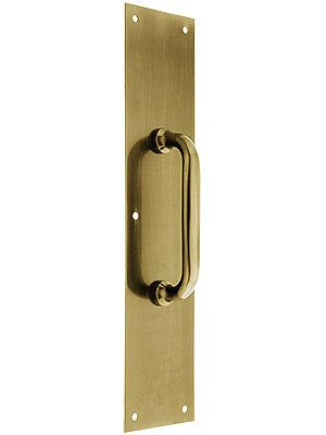 Commercial Door Pull With Back Plate Door Pulls Brass Antique Brass