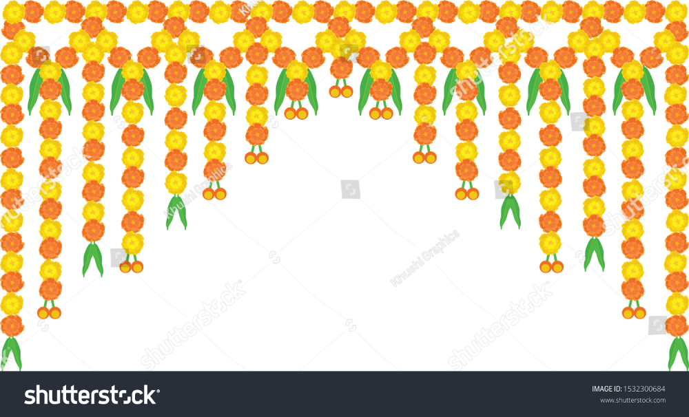 Attractive Colorful Border Decoration Made Marigold Stock Vector Royalty Free 1532300684 Colorful Borders Floral Background Wedding Borders