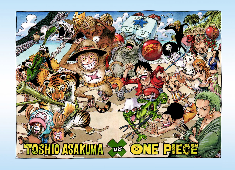 Color Spreads One Piece Chapter One Piece Manga One Piece Anime