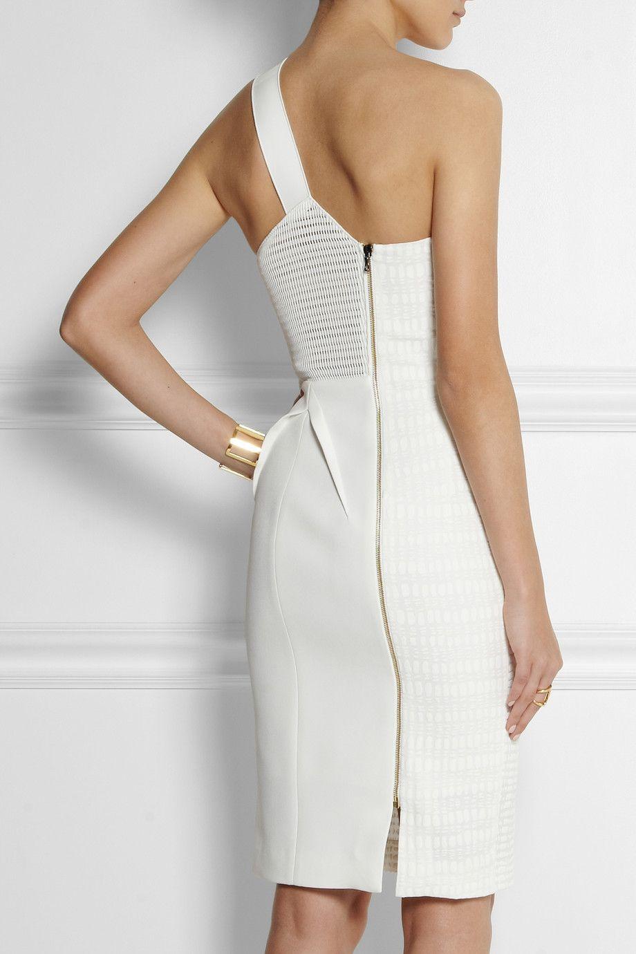 Roland Mouret   Aralia stretch-jacquard dress *Back view