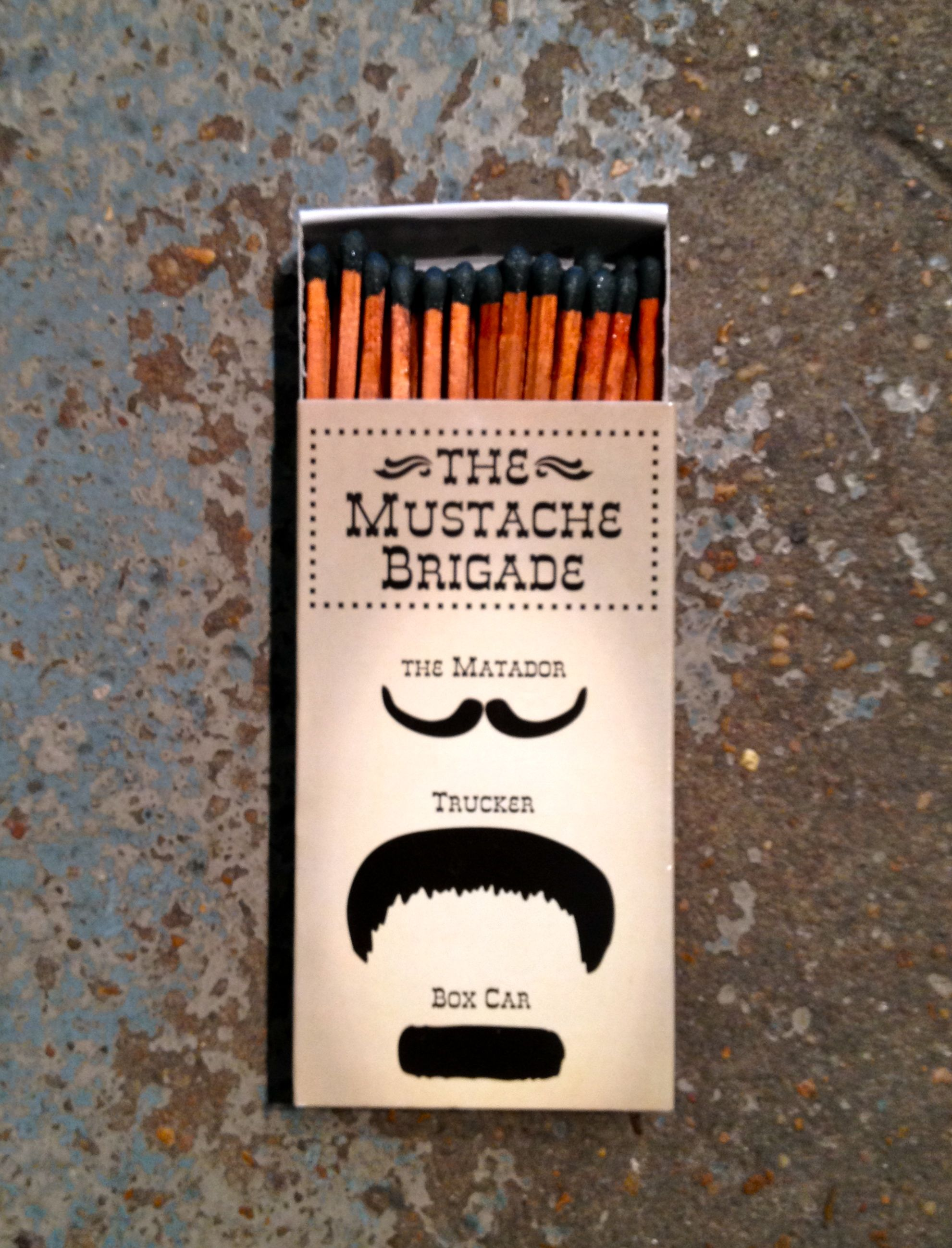 Mustache matches...found in New Orleans.