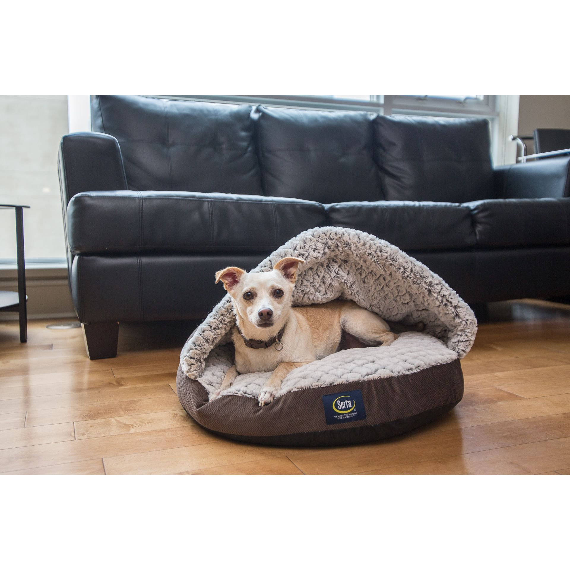Groovy Serta Pet Bed Snuggle Sherpa Nest Overstock Com Shopping Uwap Interior Chair Design Uwaporg