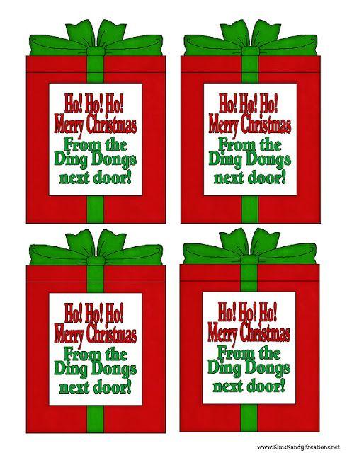 Ho Ho Ho Cheap Neighbor Gift Neighbor Gifts Easy Christmas Gifts Christmas Tags Printable