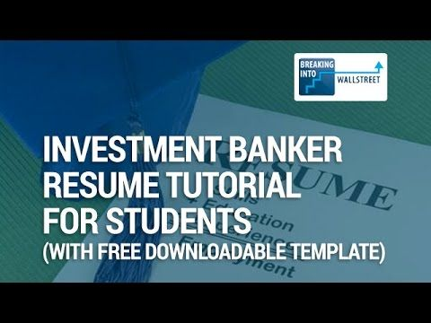 Investment Banking Resume Template For University Student M I Investing Investment Banking Investing Money Personal Finance