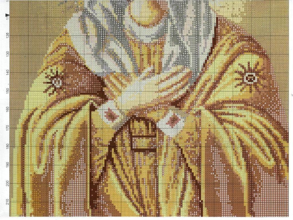 Lindo Quadro de Nossa Senhora - Esquemas de Ponto de Cruz