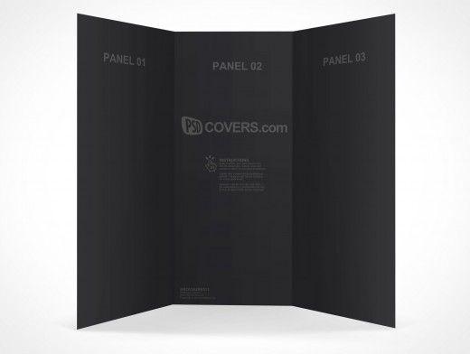 Psd Mockup 3 Panel Tri Fold Brochure Horizontal Flyer Leaflet 85x11