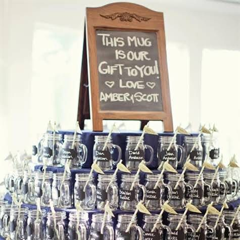 Mason Jar Wedding Favors Paint Them With Chalkboard Write People S Names On