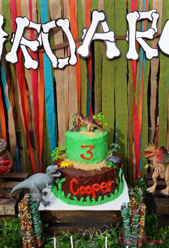 Dinosaurs Birthday Party Ideas Dinosaur birthday party Dinosaur