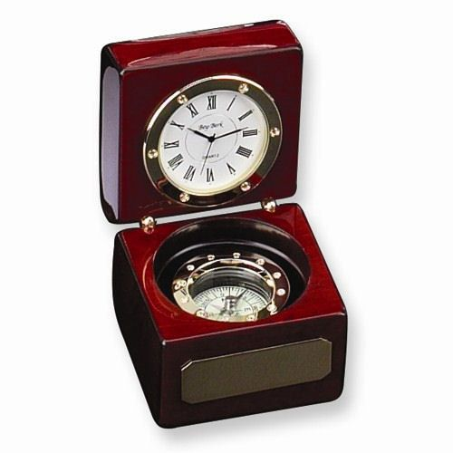Personalized Nautical Compass Clock And Engraving Desk Supplies