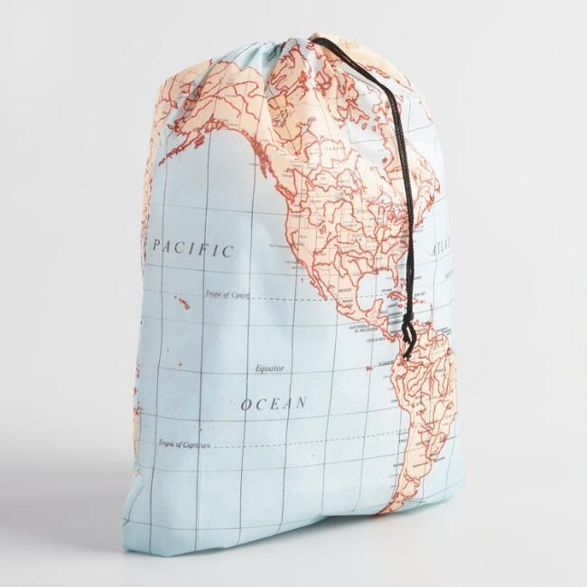 World map laundry bag trips compact and bags world map laundry bag gumiabroncs Image collections