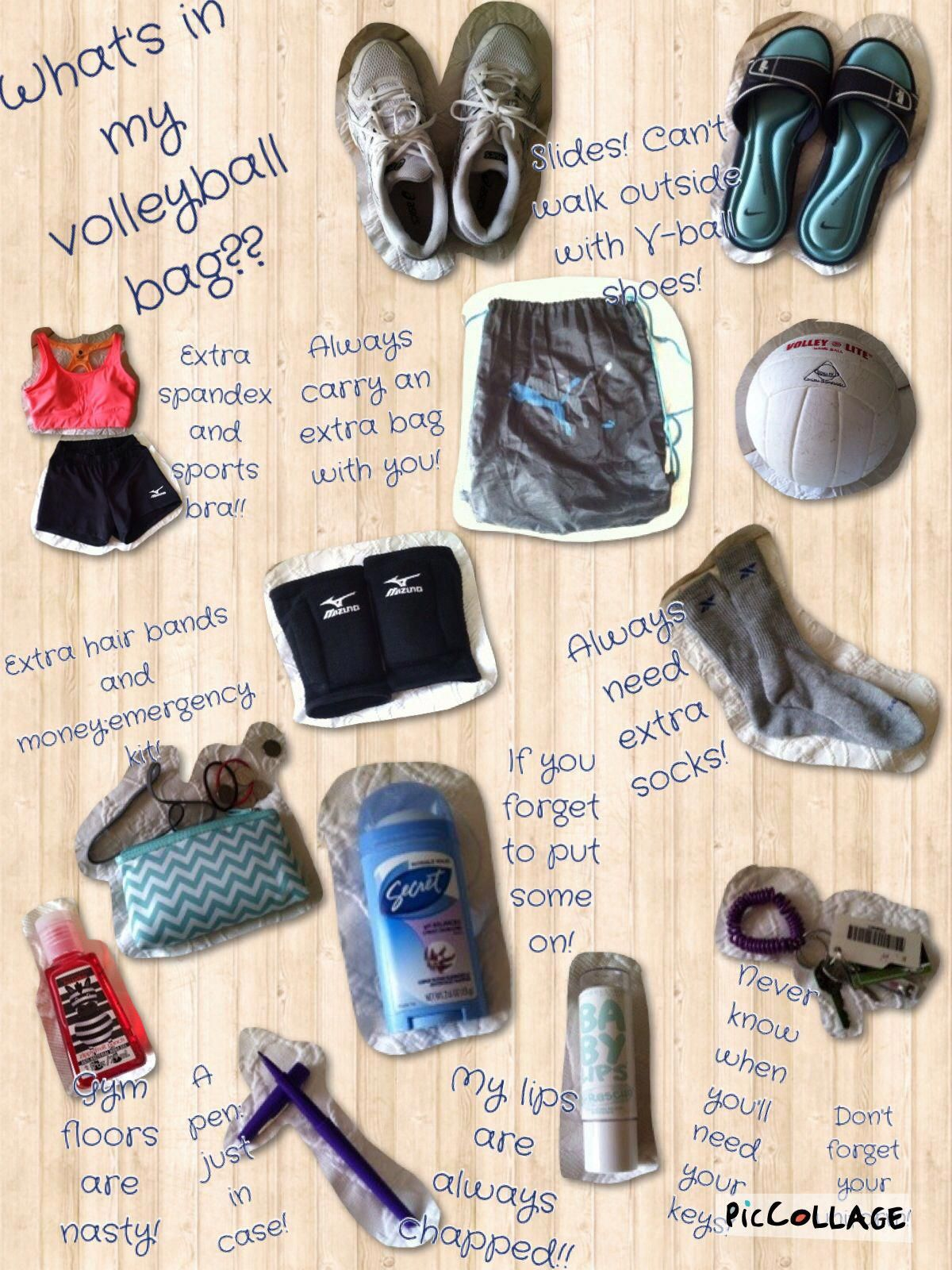 What In My Volleyball Bag Volleyball Bag Volleyball Tournaments Volleyball Workouts