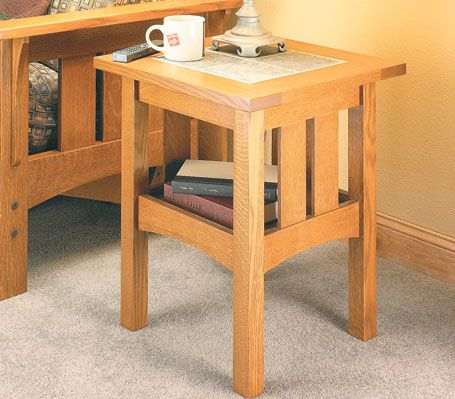 Tile Top Craftsman Table Woodsmith Plans