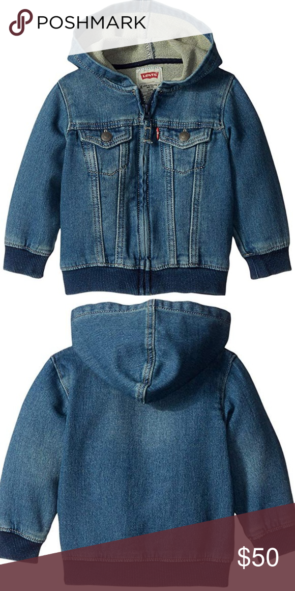 08fedbfd9307 Baby Boys  Indigo Knit Denim Hoodie Boutique