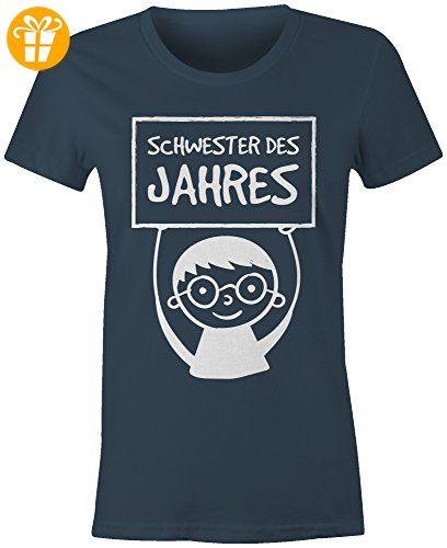 Ideen · Schwester des Jahres ☆ Rundhals-T-Shirt Frauen-Damen ☆ hochwertig  bedruckt mit · Shirt MännerHochwertigBruderGeschenkGeburtstagHerrenDamenPartner  ...