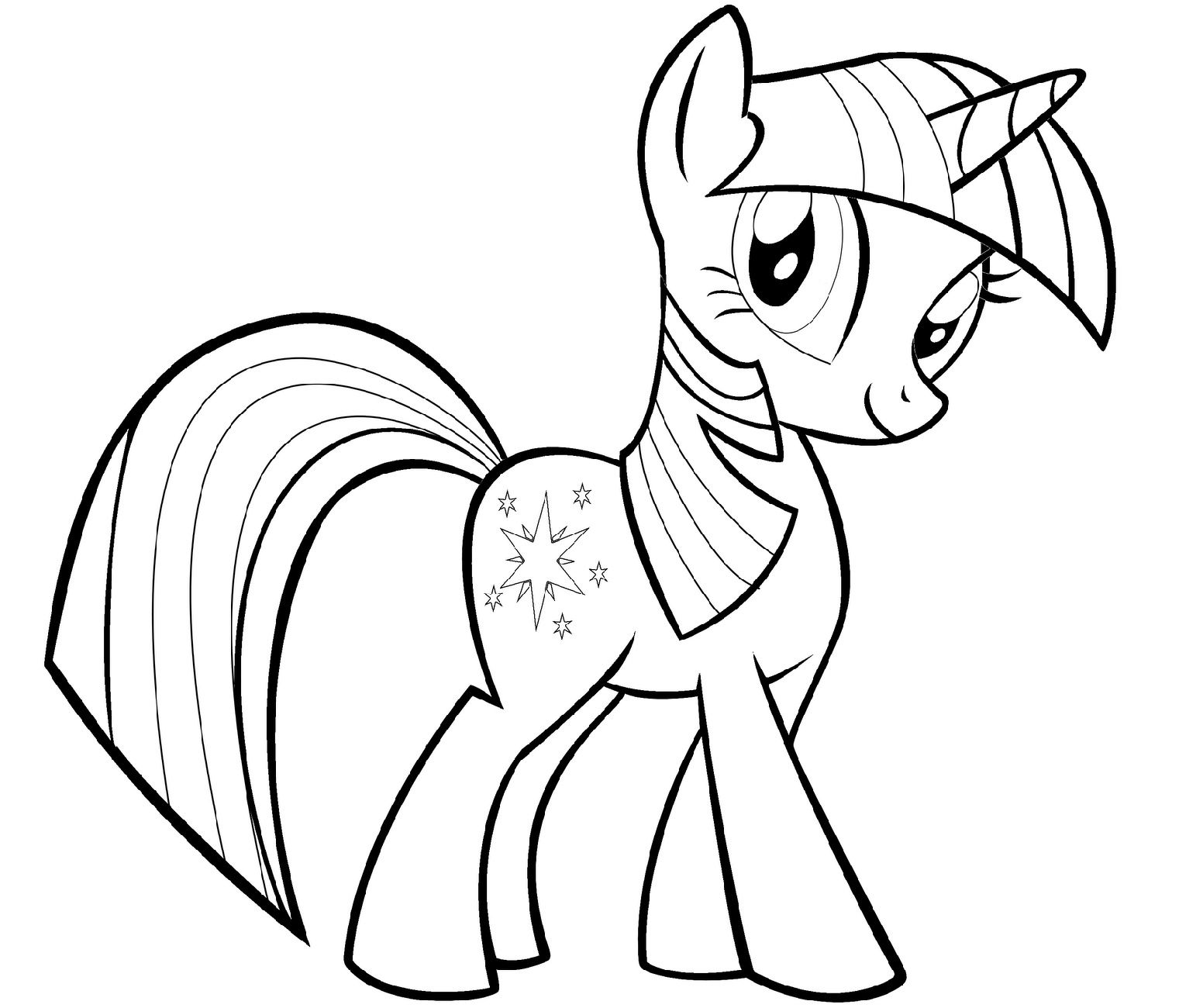 Alicorn Coloring Pages For Kids