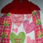Valentines Day Kitchen Crochet Hand Towel