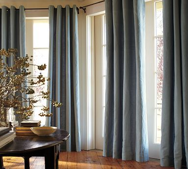 Curtain idea, master Cindy Pinterest - cortinas azules