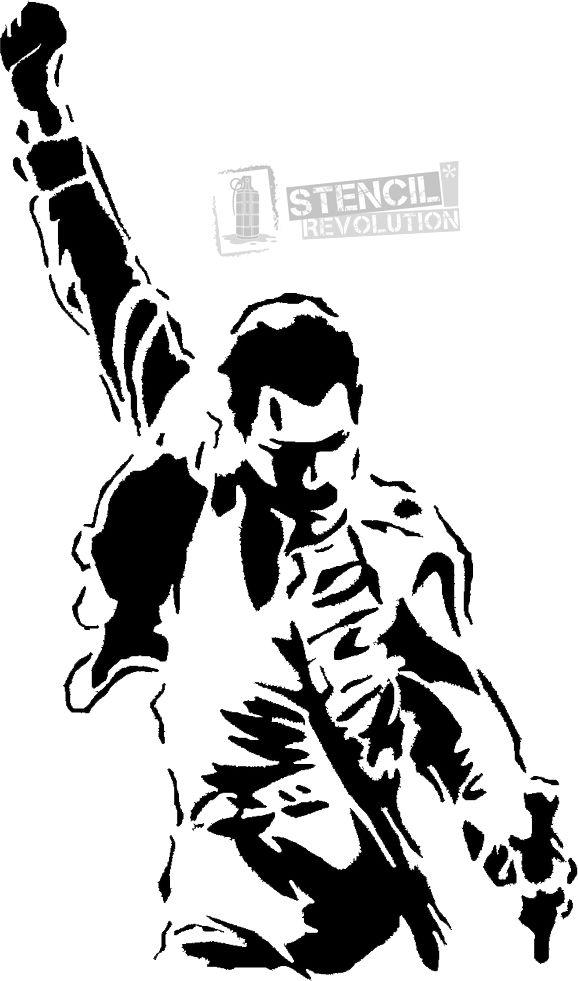 Pin De El Meow Taller En Malia Arte De Silueta Plantillas Graffiti Tatuaje De Freddie Mercury