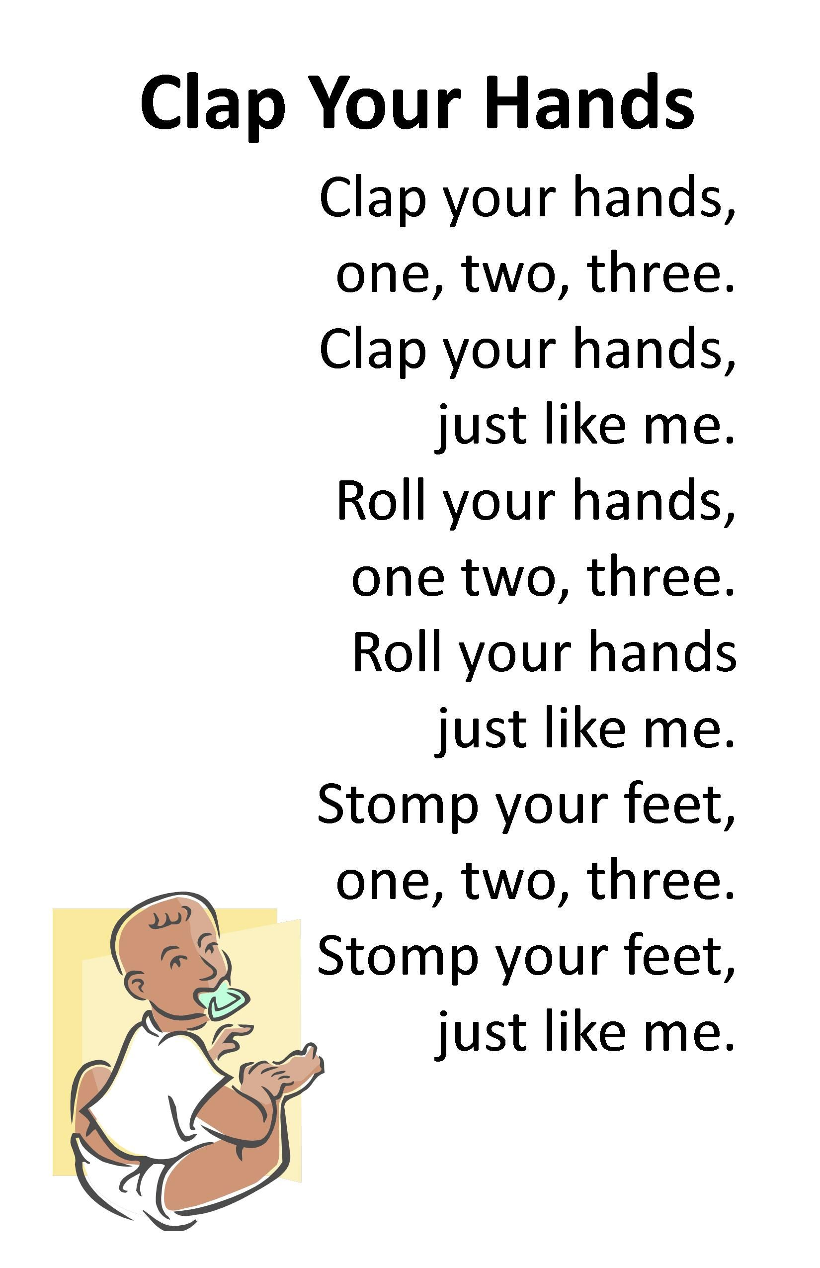 Itty bitty rhyme clap your hands itty bitty preschool for Fish songs for preschoolers