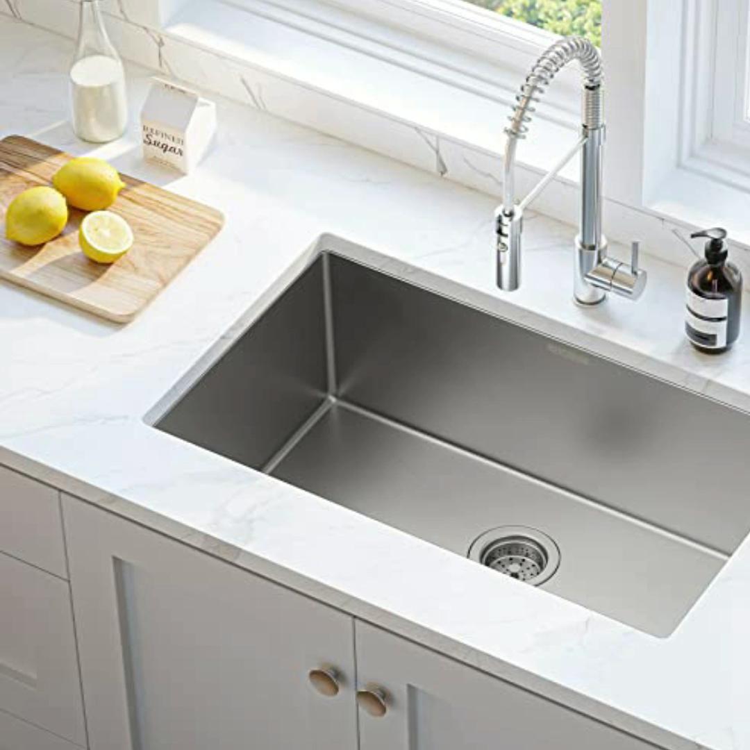 Sink Design Mensarjor 30 X 18 Single Bowl Nano Kitchen Sink 16 Gauge Undermount Stainless St Video Modern Kitchen Sinks Kitchen Sink Design Single Sink Kitchen
