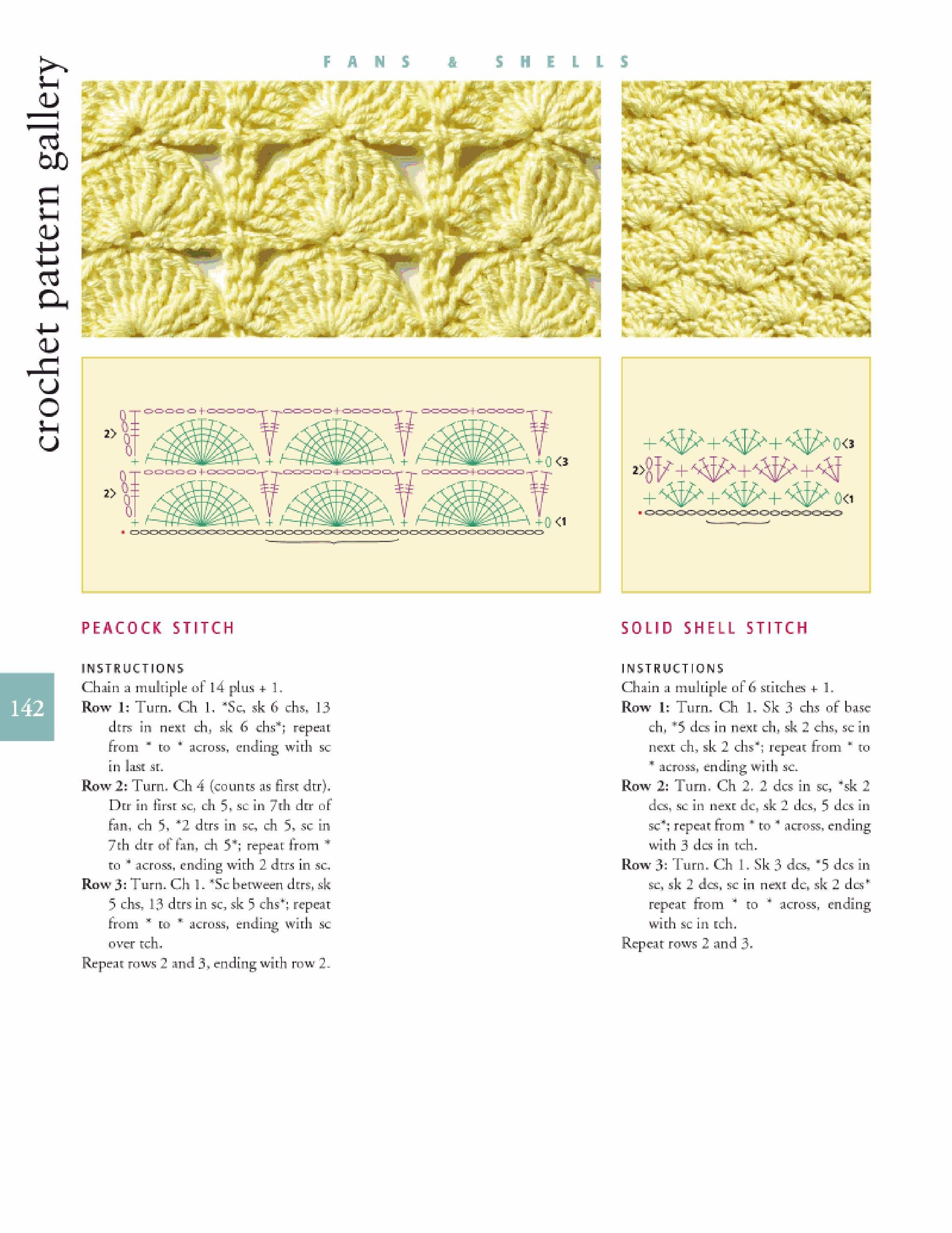 Peacock shell stitch | crochet | Ganchillo y Puntos