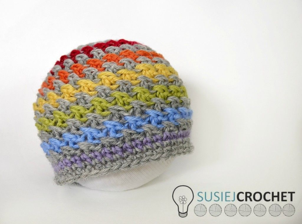 ice cream ripple hat -- Free Preemie Crochet Pattern | Charity ...