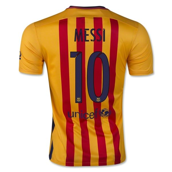 sports shoes 0eeba 7cce3 Lionel Messi Authentic Away Soccer Jersey 15/16 Barcelona ...