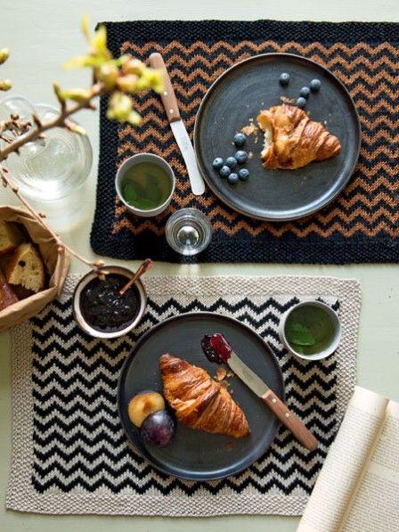 Gratisstrickanleitung Für Ein Tischset Deko Pinterest Knitting