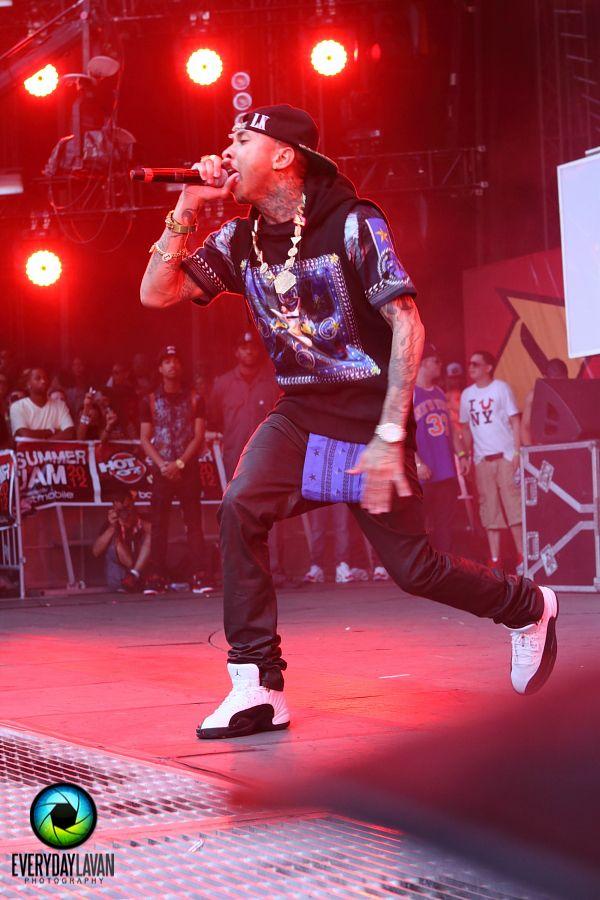 Tyga In The Air Jordan 12 Taxi Celebrity Sneakers Urban Style
