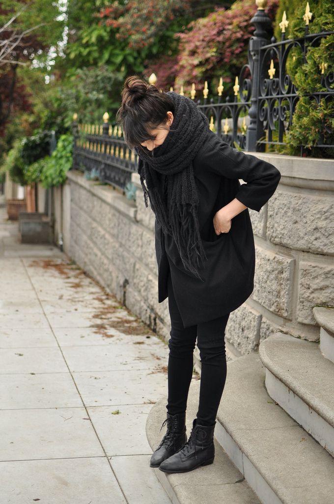 Black coat, big scarf |By Annabel Ly