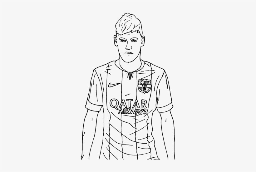 soccer coloring pages neymar skills - photo#28