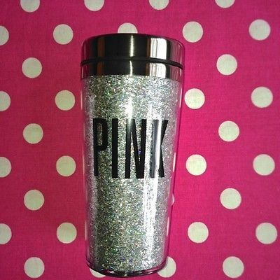 New Victoria Secret Pink Bling Coffee Water Travel Mug Cup Tumbler Bottle 13 5oz | eBay
