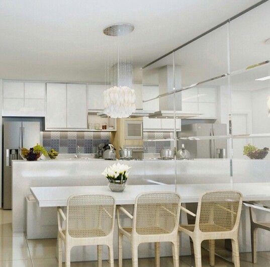 Cozinha americana #love #superwhite #homedecor #Amo_arquitetura #traço3. Projeto pra vida. _moro dentro desta cozinha!
