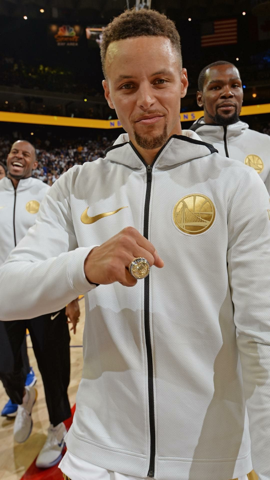 hot sales da887 28f34 Stephen Curry with his Championship ring wallpaper   Stephen ...