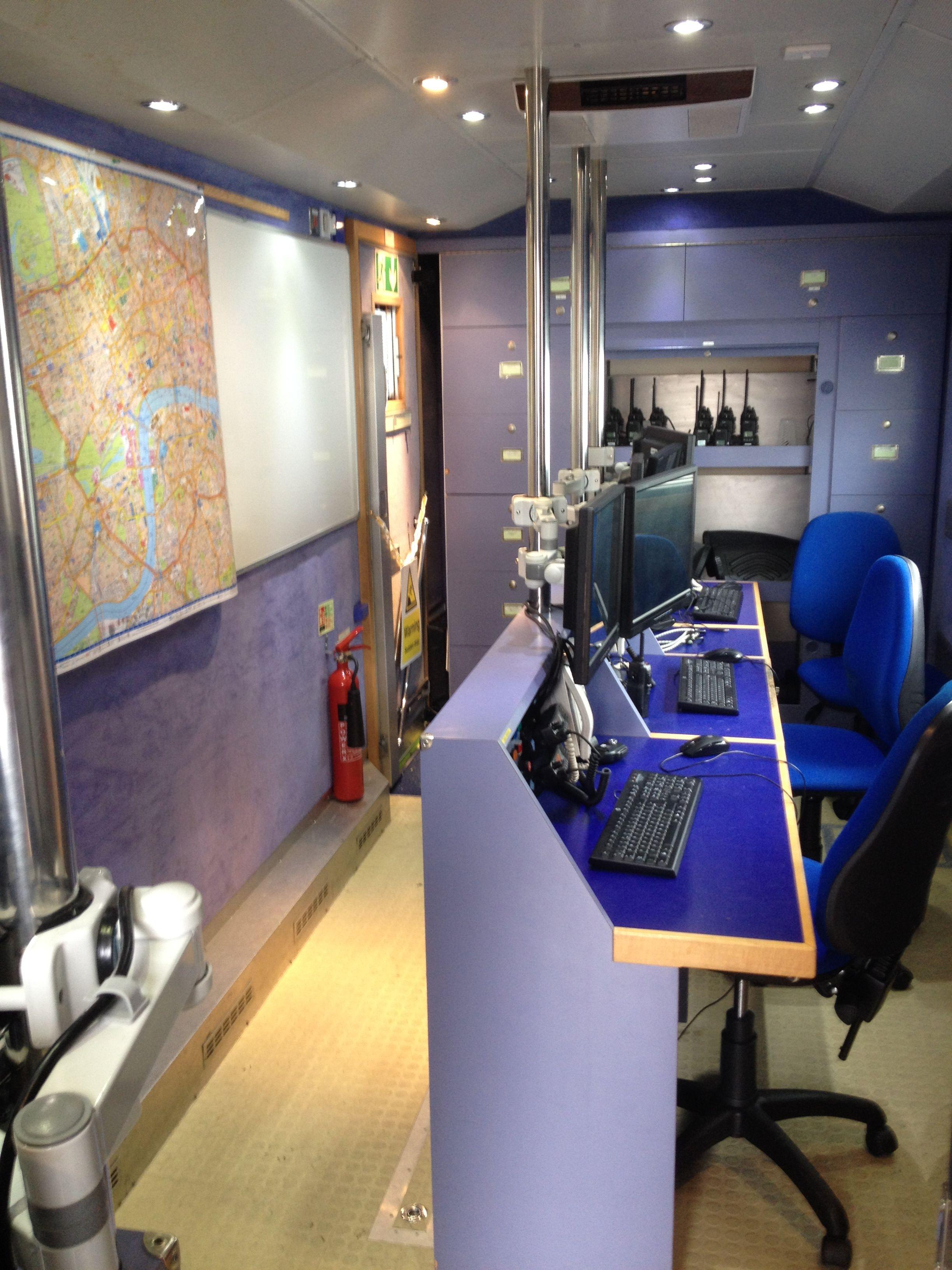Inside the st john ambulance command control vehicle
